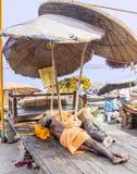 sadhu varanasi Fotografering för Bildbyråer