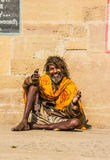 Sadhu in Varanasi Stock Photo