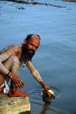 Sadhu W India zdjęcia stock