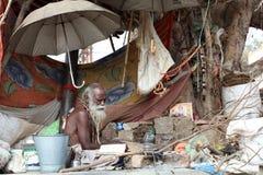 Sadhu (holy man) in Ujjain, India Royalty Free Stock Photos