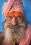 Sadhu (holy man) in Varanasi, India. Royalty Free Stock Photos