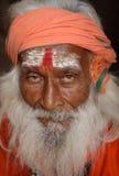 Sadhu (holy man) in Varanasi, India Royalty Free Stock Image