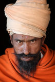Sadhu (holy man) in Varanasi, India Royalty Free Stock Image