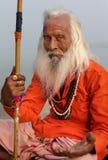 Sadhu (holy man) in Varanasi, India Royalty Free Stock Photo