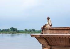 Sadhu on the Yamuna Stock Photography