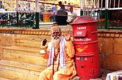 Sadhus, heilige Männer von Indien Stockfotos