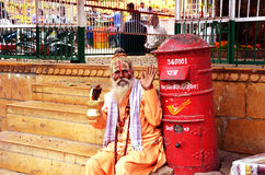 Sadhus, Heilige Mensen van India Stock Foto's