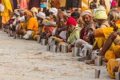 Sadhus hindú en el Kumbha Mela, la India Imagen de archivo libre de regalías