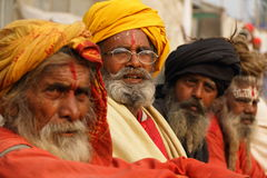 SADHUS, HOMENS SANTAMENTE DE INDIA Foto de Stock