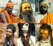 Sadhus in Shivaratri in pashupatinath Temple Royalty Free Stock Image
