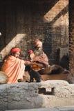 Sadhus, uomini santi al festival 2018 di Mahashivaratri a Pashupatinath Immagini Stock Libere da Diritti