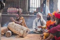 Sadhus, uomini santi al festival 2018 di Mahashivaratri a Pashupatinath Immagini Stock