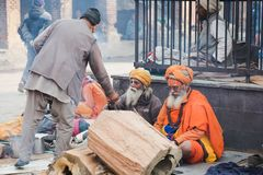 Sadhus, uomini santi al festival 2018 di Mahashivaratri a Pashupatinath Fotografie Stock