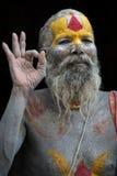 Ένας sadhy στο ναό Pashupatinath στο Κατμαντού Στοκ Εικόνες