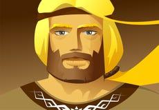 Sadko het slavic karakter Stock Afbeelding
