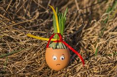 Sadly egg Royalty Free Stock Images