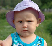 Sadness. Little girl in sad mood Royalty Free Stock Images