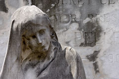 Sadness. Mournful erosion in Buenos Aires' Recoleta cemetary Royalty Free Stock Image