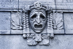 Sadness. Detail of an architectural detail on a building in Stockholm Stock Images