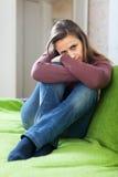Sadness beautiful woman Stock Photography