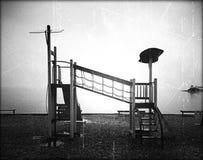 Sadness. Black and white sadness on a sea beach Royalty Free Stock Photos