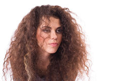 Free Sadness Curly-headed Girl Royalty Free Stock Image - 13302566
