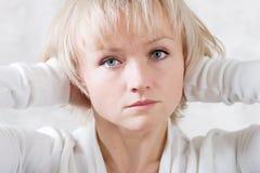 Sadness girl. Fine-art portrait of a sadness beautiful girl Royalty Free Stock Photo