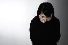 Sadness and hopeless woman Stock Photography