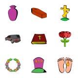 Sadness icons set, cartoon style Stock Photo