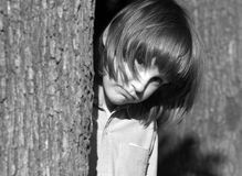 Sadness of little girl Royalty Free Stock Photos