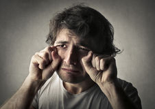Sadness man Royalty Free Stock Image