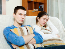 Sadness man and woman having problems Stock Photography