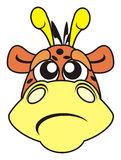 Sadness, sorrow, animal, pet, cartoon, emotions, pet, face, giraffe, heel, mountain, zoo, Royalty Free Stock Photography