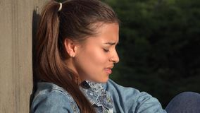 Sadness Of Teen Girl Royalty Free Stock Image