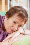 Sadness  woman Stock Images