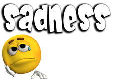 Sadness Word 6 Royalty Free Stock Photo