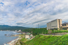 Sado海岛,新宿,日本 免版税图库摄影