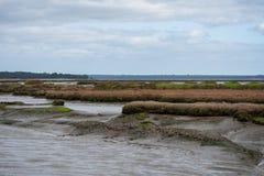 Sado d'estuaire de rivière au Portugal images stock