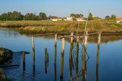 Sado de rivière dans Comporta, l'Alentejo Portugal images libres de droits