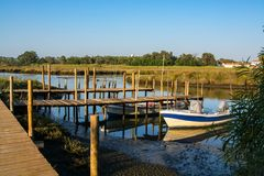 Sado de rivière dans Comporta, l'Alentejo Portugal photos libres de droits