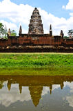 Sadok kok thom Stone Castle Khmer art with reflection pond, Thailand Stock Image