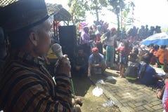 Sadranan dans la ville de Sendanggede de Semarang Images stock