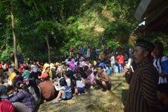 Sadranan dans la ville de Sendanggede de Semarang Photo stock