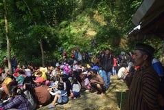 Sadranan dans la ville de Sendanggede de Semarang Photographie stock libre de droits