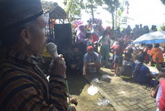 Sadranan dans la ville de Sendanggede de Semarang Image stock