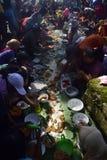 Sadranan dans la ville de Sendanggede de Semarang Images libres de droits