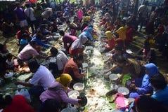 Sadranan dans la ville de Sendanggede de Semarang Photos libres de droits