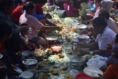 Sadranan dans la ville de Sendanggede de Semarang Photos stock