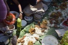 Sadranan dans la ville de Sendanggede de Semarang Image libre de droits