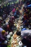 Sadranan en la ciudad de Sendanggede de Semarang Foto de archivo libre de regalías